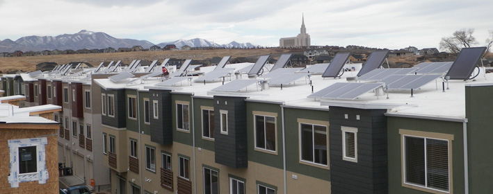 It's not about about panels on the roof, it's about selling homes